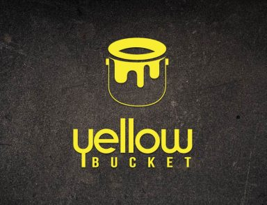 logo design yellow bucket