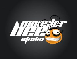 monster bee logo mascot