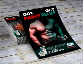 graphic flyer pain relief design