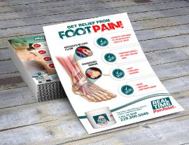 pain relief graphic flyers