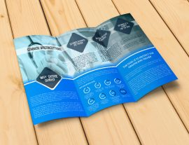 trifold design graphic