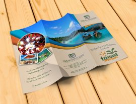 travel design graphic trifold