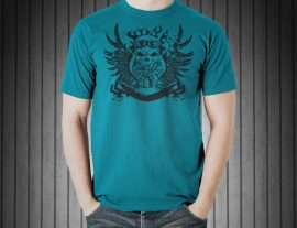 skull green graphic tshirt